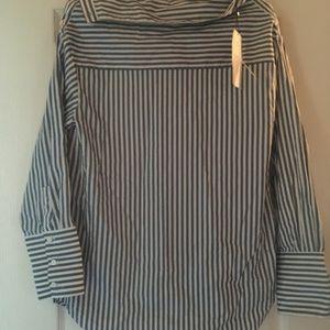 Strip blue and white shirt